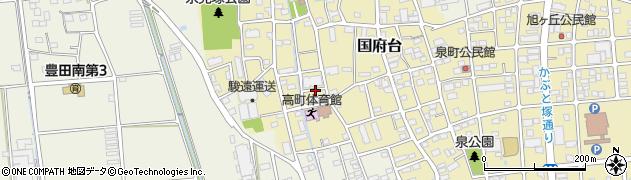 静岡県磐田市泉町周辺の地図