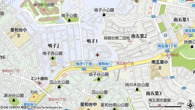 〒651-1133 兵庫県神戸市北区鳴子の地図