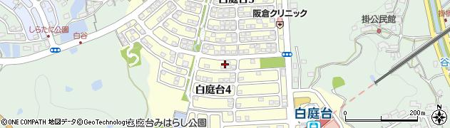 奈良県生駒市白庭台周辺の地図