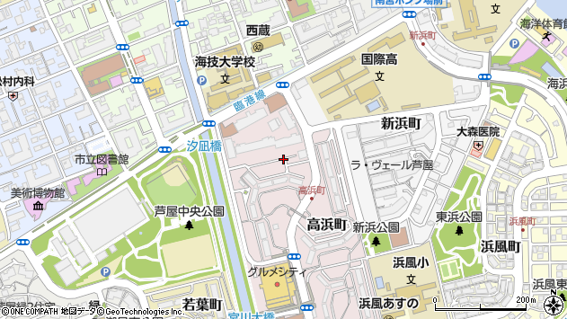 〒659-0033 兵庫県芦屋市高浜町の地図