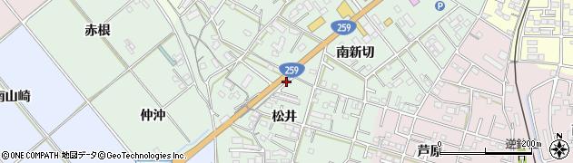 愛知県豊橋市松井町周辺の地図