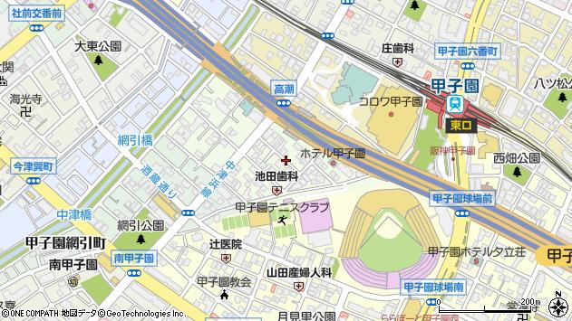 〒663-8151 兵庫県西宮市甲子園洲鳥町の地図