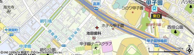 兵庫県西宮市甲子園洲鳥町周辺の地図