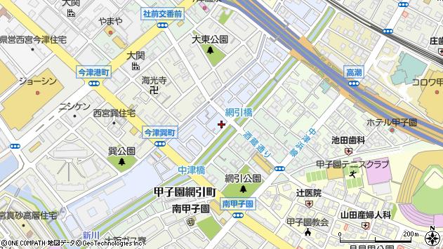 〒663-8222 兵庫県西宮市今津久寿川町の地図