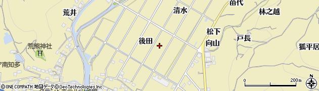 愛知県南知多町(知多郡)山海周辺の地図