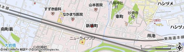 愛知県豊橋市二川町(新橋町)周辺の地図