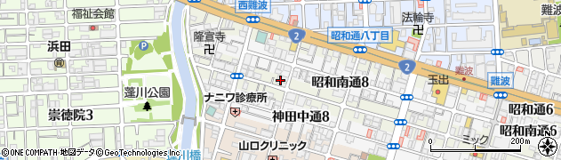 兵庫県尼崎市神田北通9丁目周辺の地図