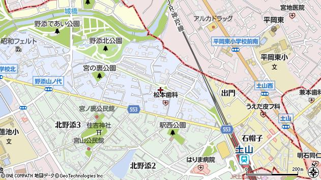 〒675-0157 兵庫県加古郡播磨町上野添の地図
