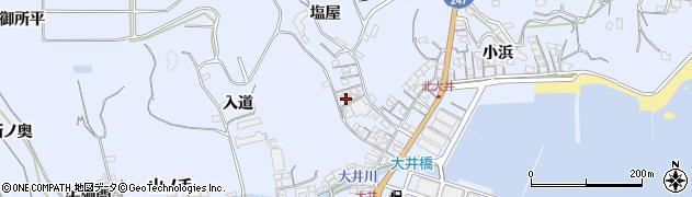 愛知県南知多町(知多郡)大井(塩屋)周辺の地図