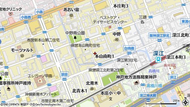 〒658-0015 兵庫県神戸市東灘区本山南町の地図