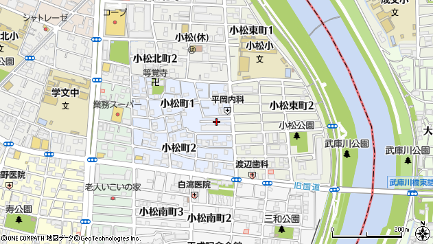 〒663-8127 兵庫県西宮市小松町の地図