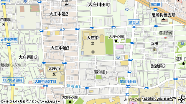 〒660-0073 兵庫県尼崎市菜切山町の地図