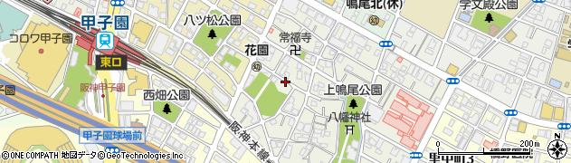 兵庫県西宮市上鳴尾町周辺の地図