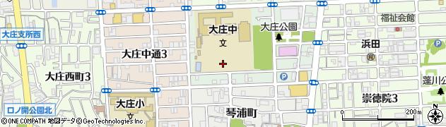 兵庫県尼崎市菜切山町周辺の地図