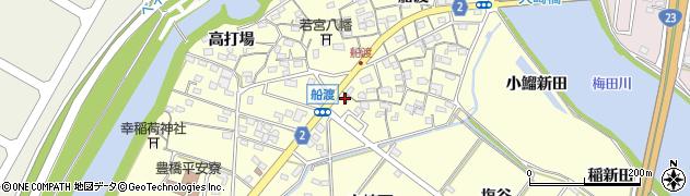 愛知県豊橋市船渡町(富ノ前)周辺の地図