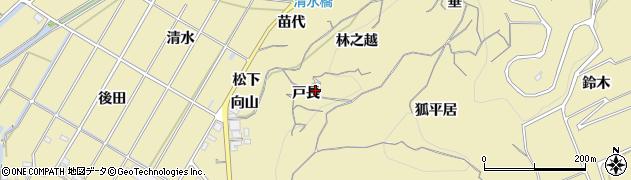 愛知県南知多町(知多郡)山海(戸長)周辺の地図