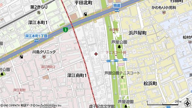 〒659-0074 兵庫県芦屋市平田町の地図