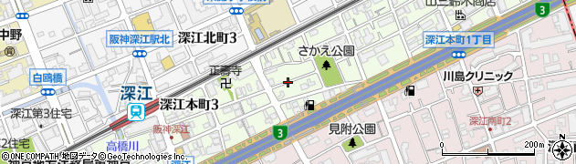 兵庫県神戸市東灘区深江本町周辺の地図