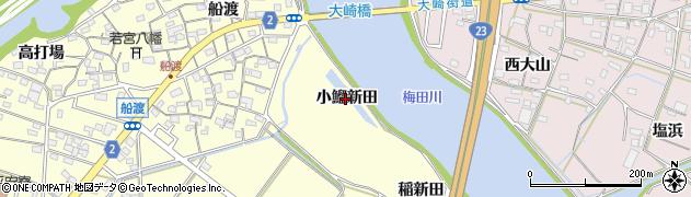愛知県豊橋市船渡町(小鰡新田)周辺の地図