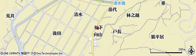 愛知県南知多町(知多郡)山海(松下)周辺の地図