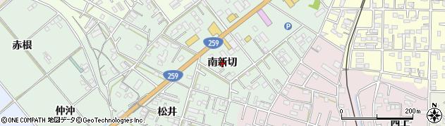 愛知県豊橋市松井町(南新切)周辺の地図