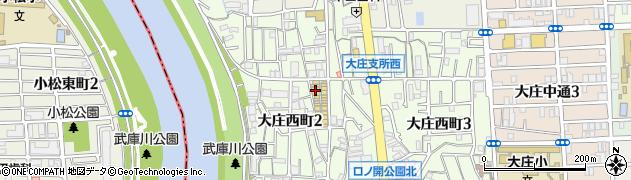 兵庫県尼崎市大庄西町2丁目周辺の地図