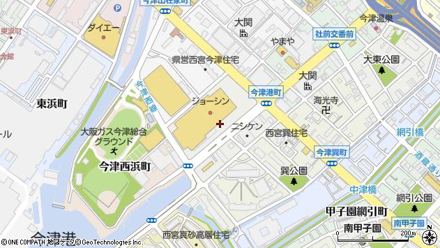 〒663-8226 兵庫県西宮市今津港町の地図