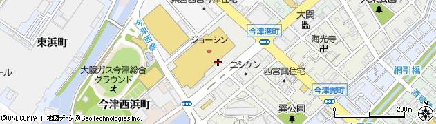 兵庫県西宮市今津港町周辺の地図