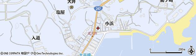 愛知県南知多町(知多郡)大井(小浜)周辺の地図