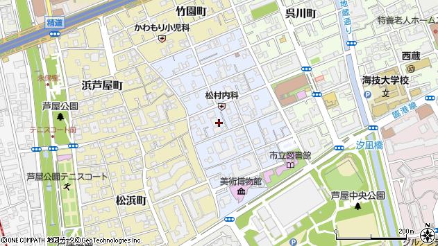 〒659-0052 兵庫県芦屋市伊勢町の地図