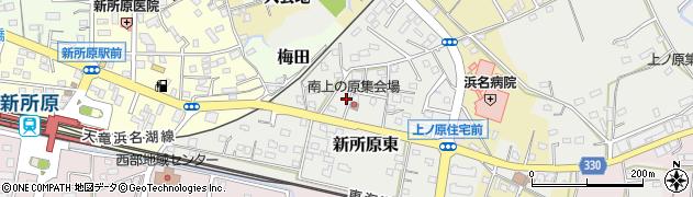 静岡県湖西市新所原東周辺の地図