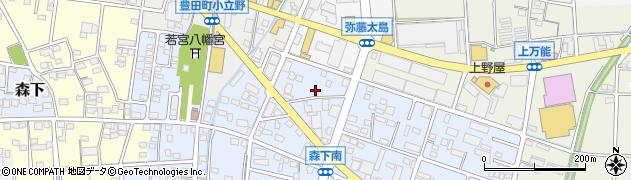 静岡県磐田市森下周辺の地図