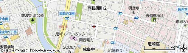 兵庫県尼崎市西長洲町2丁目周辺の地図