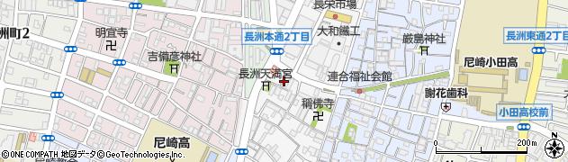 兵庫県尼崎市長洲本通3丁目周辺の地図