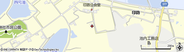 兵庫県神戸市西区岩岡町(印路)周辺の地図