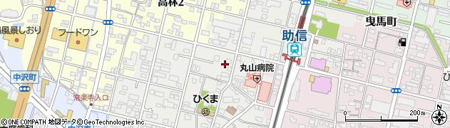 静岡県浜松市中区助信町周辺の地図
