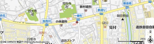 静岡県磐田市一番町周辺の地図