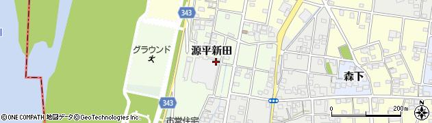 静岡県磐田市源平新田周辺の地図