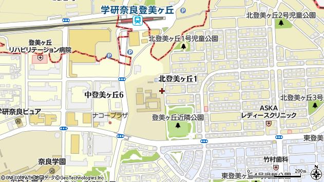 〒631-0001 奈良県奈良市北登美ケ丘の地図