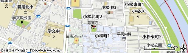等覚寺周辺の地図