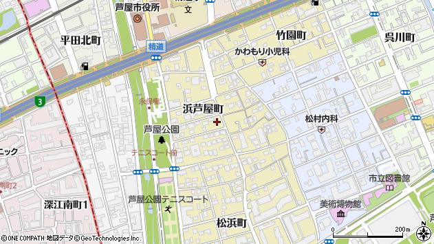 〒659-0054 兵庫県芦屋市浜芦屋町の地図