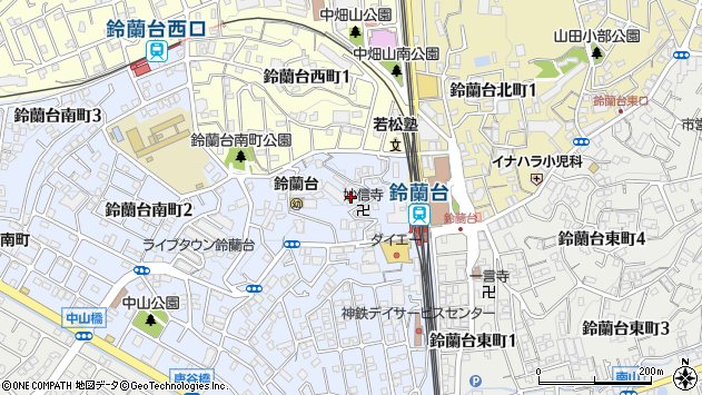 〒651-1113 兵庫県神戸市北区鈴蘭台南町の地図