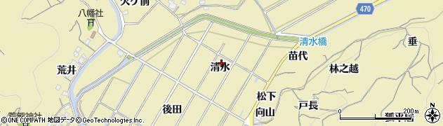 愛知県南知多町(知多郡)山海(清水)周辺の地図