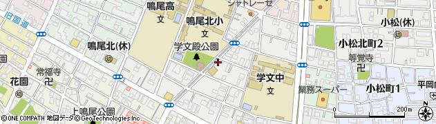 兵庫県西宮市学文殿町周辺の地図