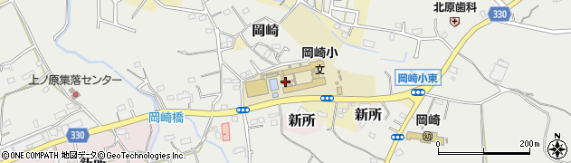静岡県湖西市岡崎周辺の地図