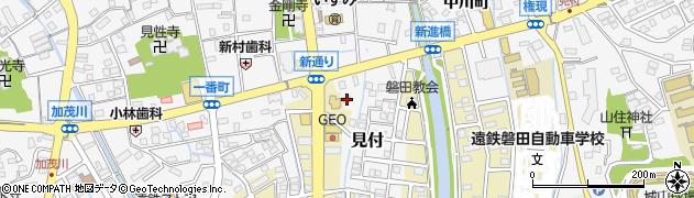 静岡県磐田市新通町周辺の地図