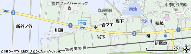 立岩周辺の地図