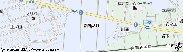 愛知県豊橋市雲谷町(新外ノ谷)周辺の地図