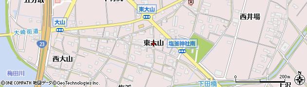 愛知県豊橋市大山町(東大山)周辺の地図