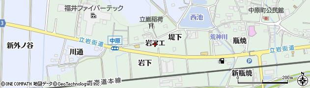 愛知県豊橋市中原町(岩マエ)周辺の地図
